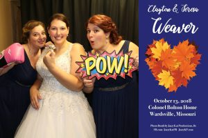 JKP photo booth at weaver wedding